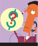 Финансовохозяйственный вопрос о телефона бесплатная иллюстрация