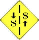 финансовохозяйственный знак Стоковое Изображение