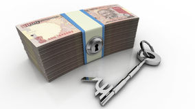 финансовохозяйственный ключевой успех к Стоковое Изображение RF