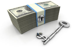 финансовохозяйственный ключевой успех к Стоковые Изображения RF