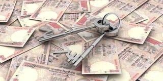финансовохозяйственный ключевой успех к Стоковые Изображения