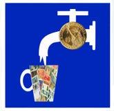 финансовохозяйственный мир системы знака Стоковые Изображения RF