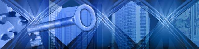 финансовохозяйственный находя ключевой успех к Стоковое Изображение RF