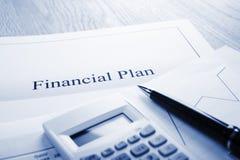 финансовохозяйственный план Стоковое Изображение