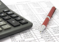финансовохозяйственный рапорт Стоковое фото RF