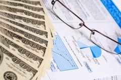 финансовохозяйственный рапорт Стоковые Изображения