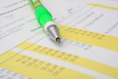 финансовохозяйственный рапорт Стоковое Изображение RF