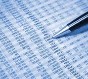 финансовохозяйственный рапорт Стоковая Фотография RF