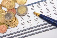 финансовохозяйственный рапорт стоковые изображения rf