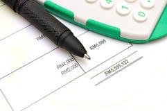 Финансовые бумажные диаграммы и диаграммы Стоковые Изображения RF