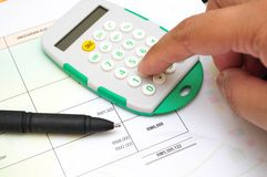 Финансовые бумажные диаграммы и диаграммы Стоковые Фото