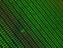 Финансовые данные на мониторе как концепция данным по финансов, конец вверх Стоковые Изображения