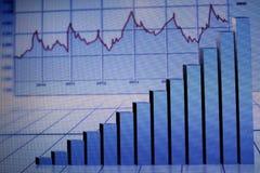 Финансовые диаграммы на большом табло стоковые изображения rf