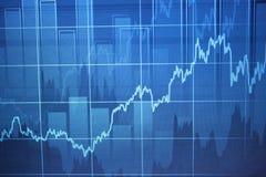 Финансовые диаграммы на большом табло Стоковые Изображения