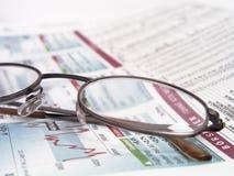 финансовые новости Стоковое Изображение RF
