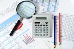 Финансовые документы Стоковое Изображение