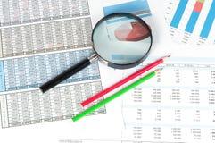 Финансовые документы Стоковая Фотография RF