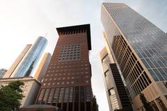 Финансовые офисные здания в Франкфурте стоковое фото rf