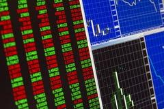Финансовые дочументы план-графиков и диаграмм Стоковые Фотографии RF