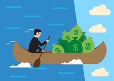 Финансовые падения Иллюстрация вектора