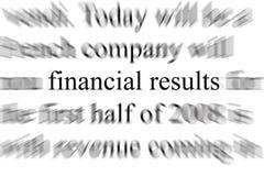 финансовые результаты Стоковая Фотография RF