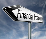 Финансовые свобода и независимость Стоковая Фотография RF