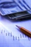 Финансовый анализ цен и возвращений Стоковые Фото