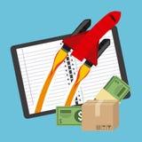 Финансовый запуск Стоковые Изображения RF