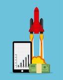 Финансовый запуск Стоковое Изображение