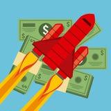 Финансовый запуск Стоковая Фотография