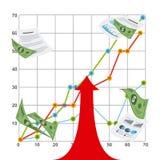 Финансовый запуск Стоковое фото RF