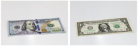 Финансовый коллаж счета бумажных денег Стоковые Фотографии RF