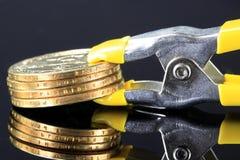 Финансовый кредитный кризис выжимкы Стоковая Фотография