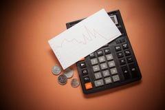 Финансовый кризис, монетки Стоковая Фотография