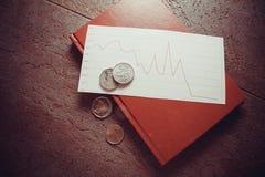 Финансовый кризис, монетки Стоковое Изображение