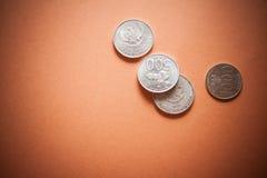 Финансовый кризис, монетки Стоковая Фотография RF