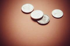 Финансовый кризис, монетки Стоковые Изображения RF