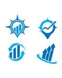 Финансовый логотип Стоковое фото RF