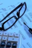 финансовый отчет Стоковое Изображение RF