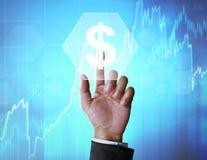 Финансовый приходить символов Стоковое Фото