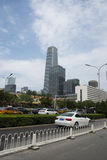 Финансовый район Азии Пекина центральный, Китай, современная архитектура, здания города много-легендарные Стоковое фото RF