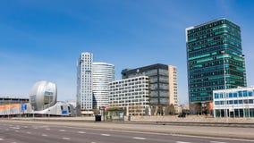 Финансовый район Амстердама Zuidoost, Голландия Стоковое Фото