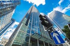 Финансовый район в Лондоне, Великобритании Стоковые Изображения RF