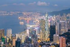 Финансовый район города Гонконга городской центральный Стоковые Изображения