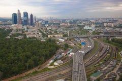 Финансовый район города Москвы Стоковое Изображение