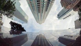 Финансовый район, городское Лос-Анджелес, Калифорния Timelapse видеоматериал