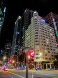Финансовый район залива Марины ` s Сингапура к ноча Стоковое Изображение RF