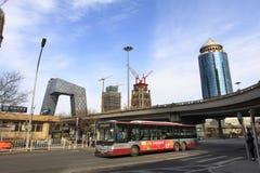 Финансовый район Пекина центральный (CBD) Стоковое Фото