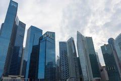 Финансовый район Сингапура центральный, Сингапур, 15-ое декабря 2017 Стоковое Изображение
