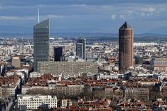 Финансовый район части-Dieu Ла, и свои башни Стоковые Фото